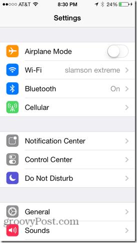 change wifi settings in ios7 dns