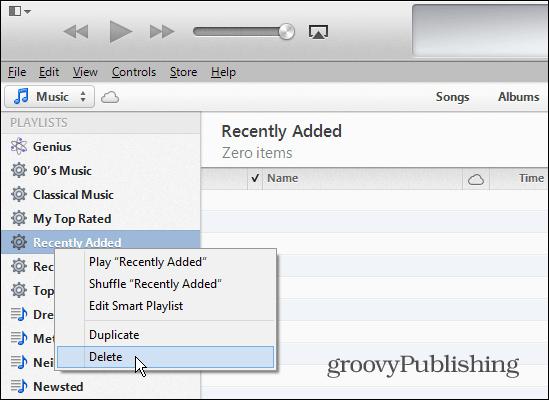 Delete Playlists