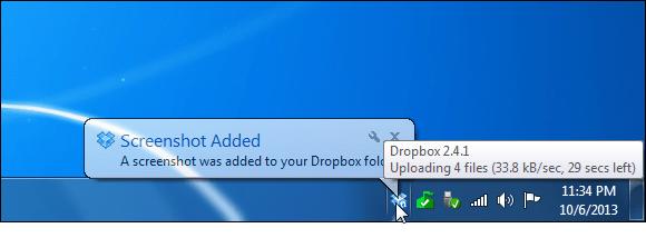 Dropbox Version Screenshot Added