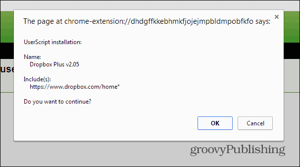 Dropbox tree structure Chrome install script
