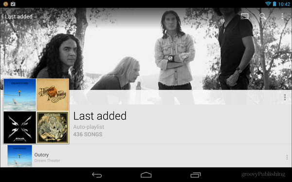 Google Music Added Playlists
