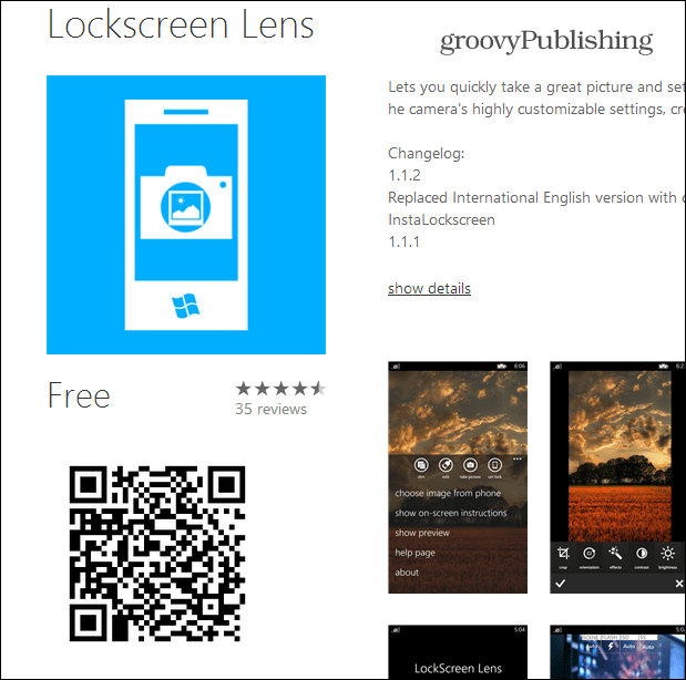 QR Code for Windows Phone App