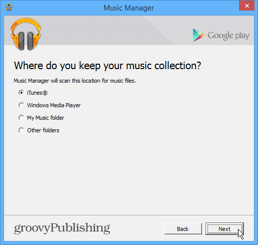 Upload iTunes collection