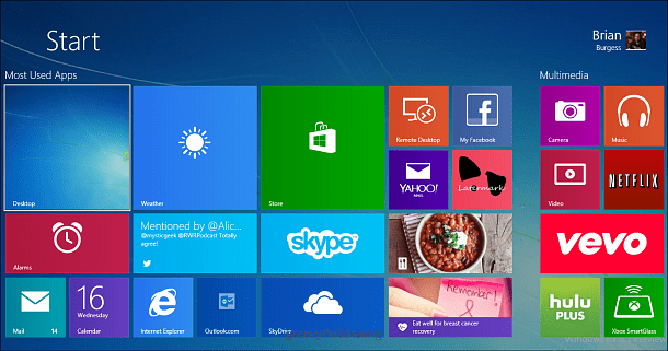 Windows 8.1 Start