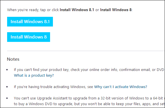 Windows 8.1 Download Page