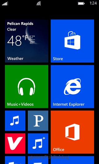 Windows Phone Home