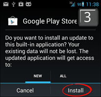 install new google store