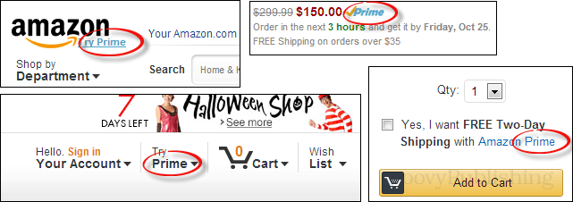 amazon prime advertising