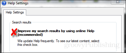 help settings improved search results