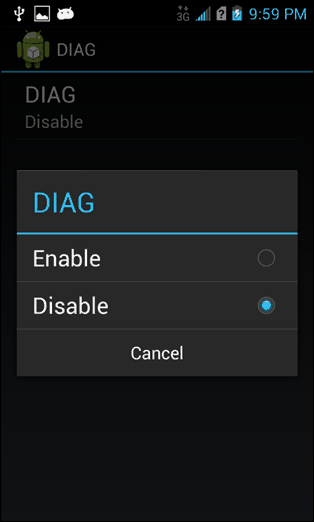disable diag