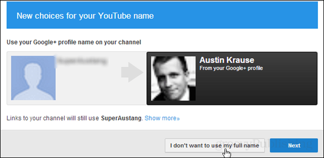 Come on, use your real name on YouTube! Don't want to? Oh come on!