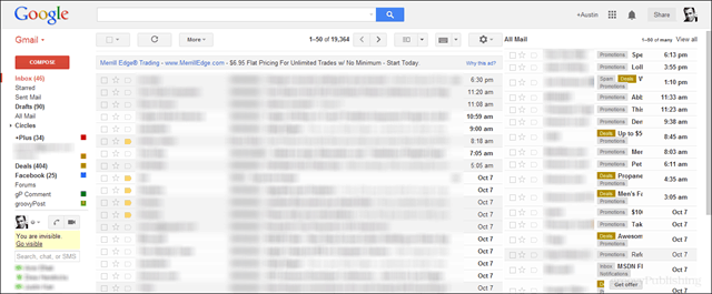 preview screenshot of gmail with all mail in 2nd pane on the right