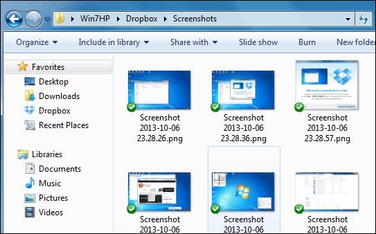 screenshots folder Local