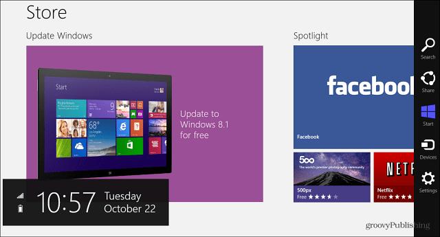 update to Windows 8.1