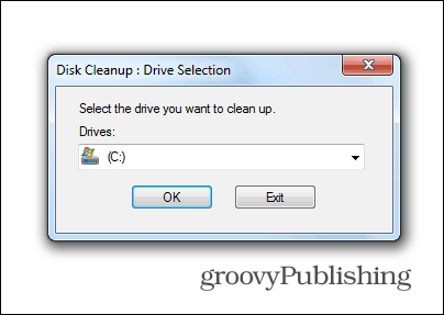 windows 7 update delete old files disk cleanup system drive