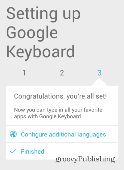 Android KitKat keyboard all set