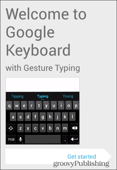 Android KitKat keyboard get started