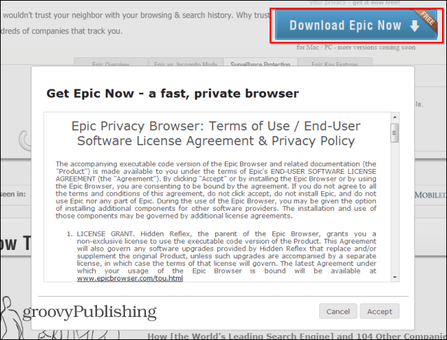 Epic Privacy Browser download