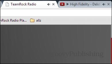 Google Chrome noisy tabs