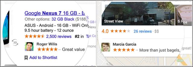 Google Shared Endosements main