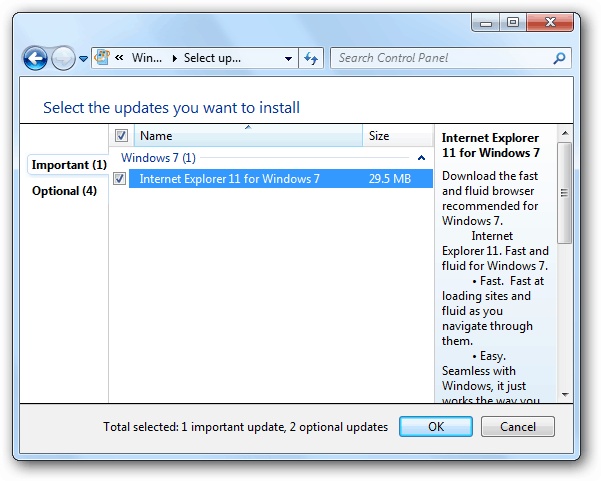IE 11 Windows Update