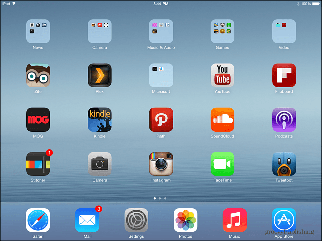 Restored iPad iOS 7