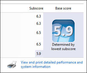 How to check windows experience index in windows 8. 1? With.