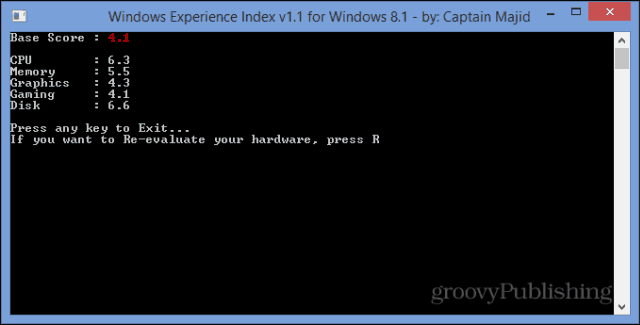 Windows Experience Index WEI