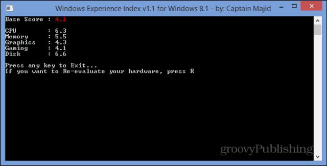 Windows Experience Index WEI