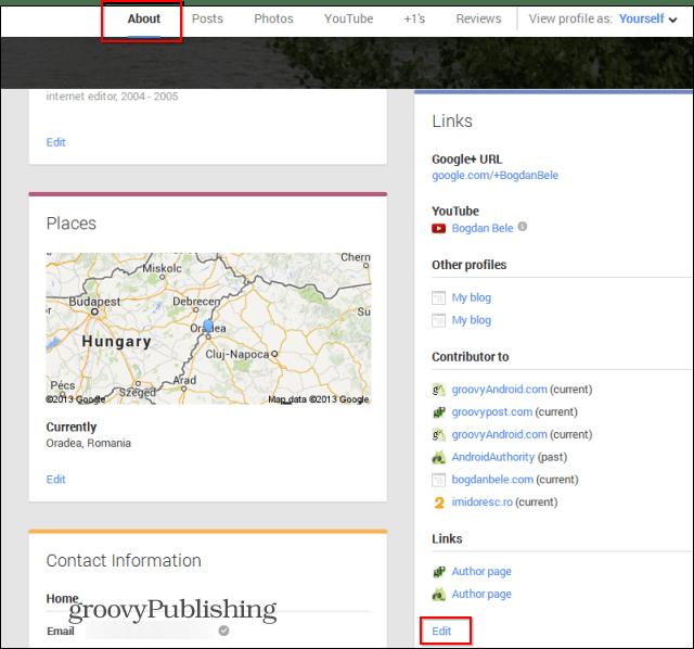 google  custom url about links