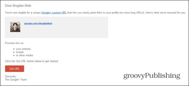 google  custom url email