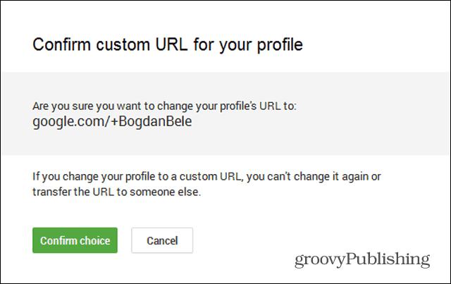 google  custom url request confirm