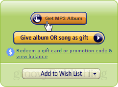 get mp3 album button