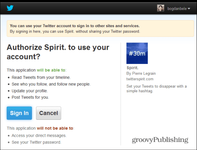 twitter spirit permissions