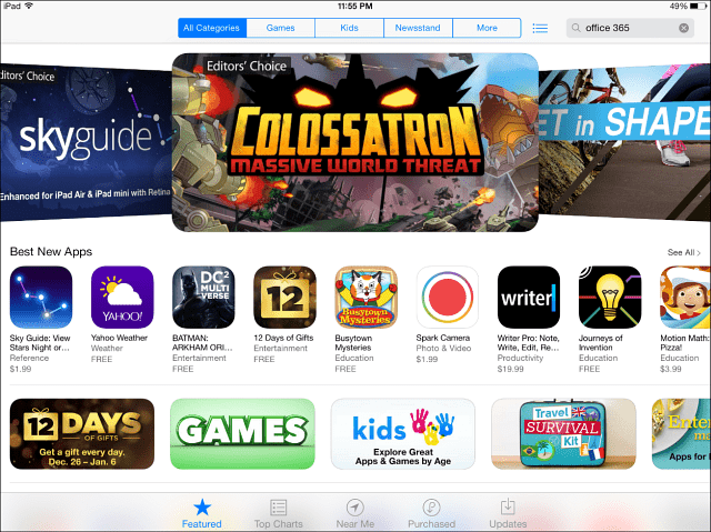 Apple App Store iPad Mini