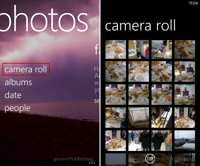 Camera Roll Windows Phone 8