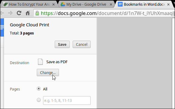 Change Printer Chromebook