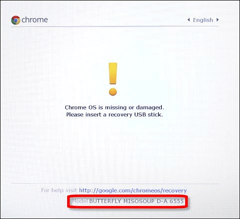 Chrome OS Missing or Damaged