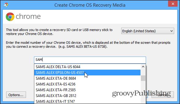 Chrome OS Recovery