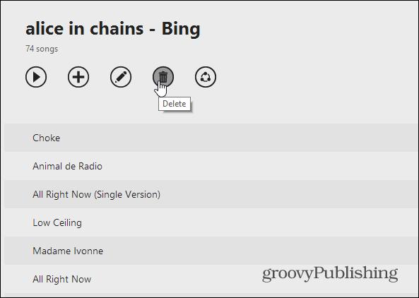Delete Playlist Web Version