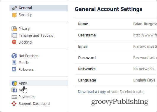 General Account Settings