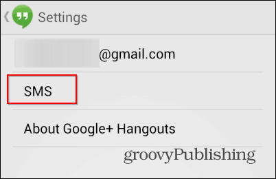 Hangouts SMS sms