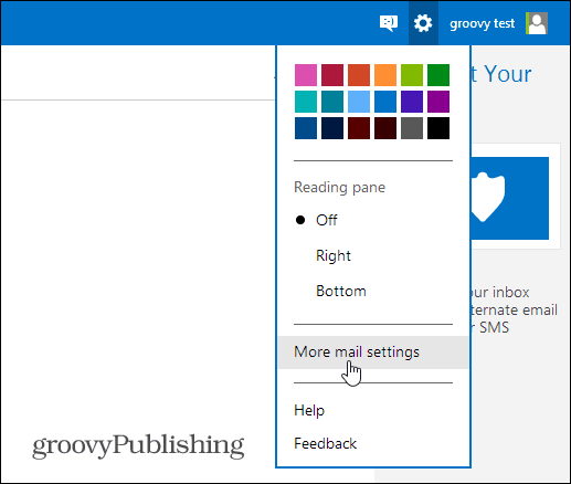 Outlook.com Mail Options