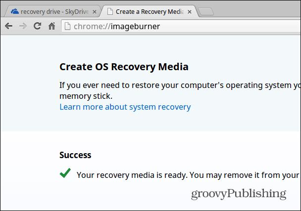 Recovery Media Ready