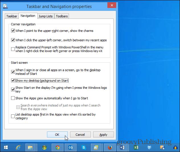 Show desktop as Start