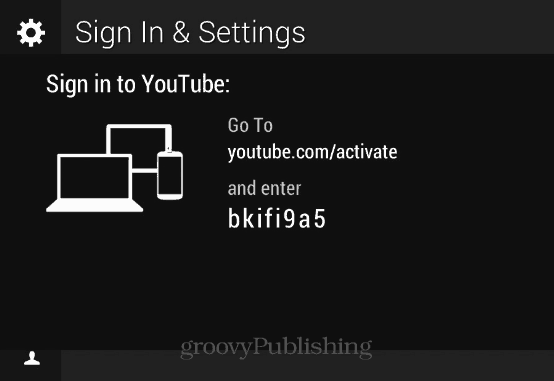 Sign in and Settings