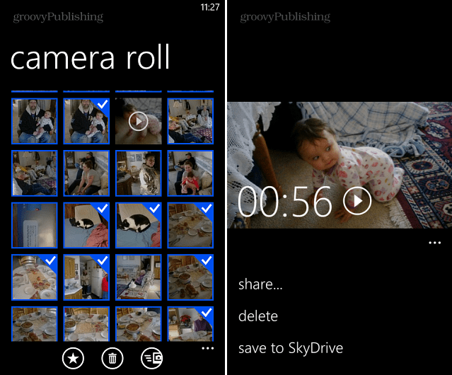 Upload multiple photos and videeo to skydrive