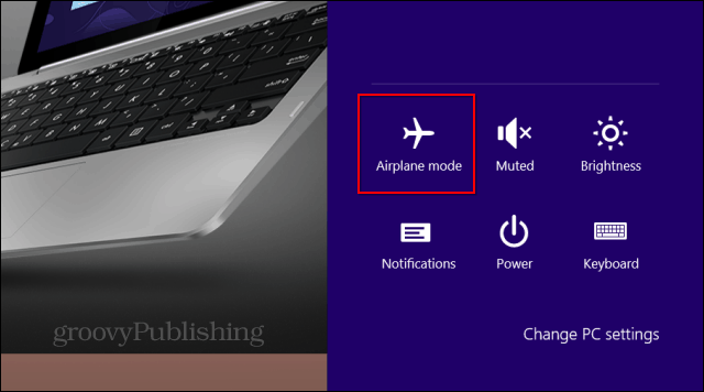 Windows 8.1 Airplane Mode icon