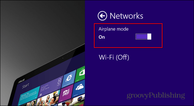 Windows 8.1 Airplane Mode turn off