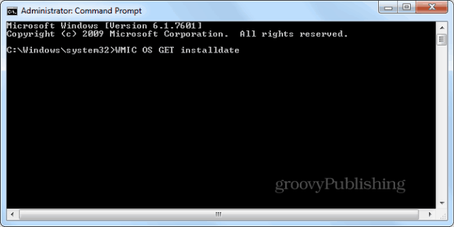 Windows installation date cmd prompt wmic